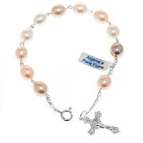 Bracelet dix grains en argent et perles de ruisseau s1