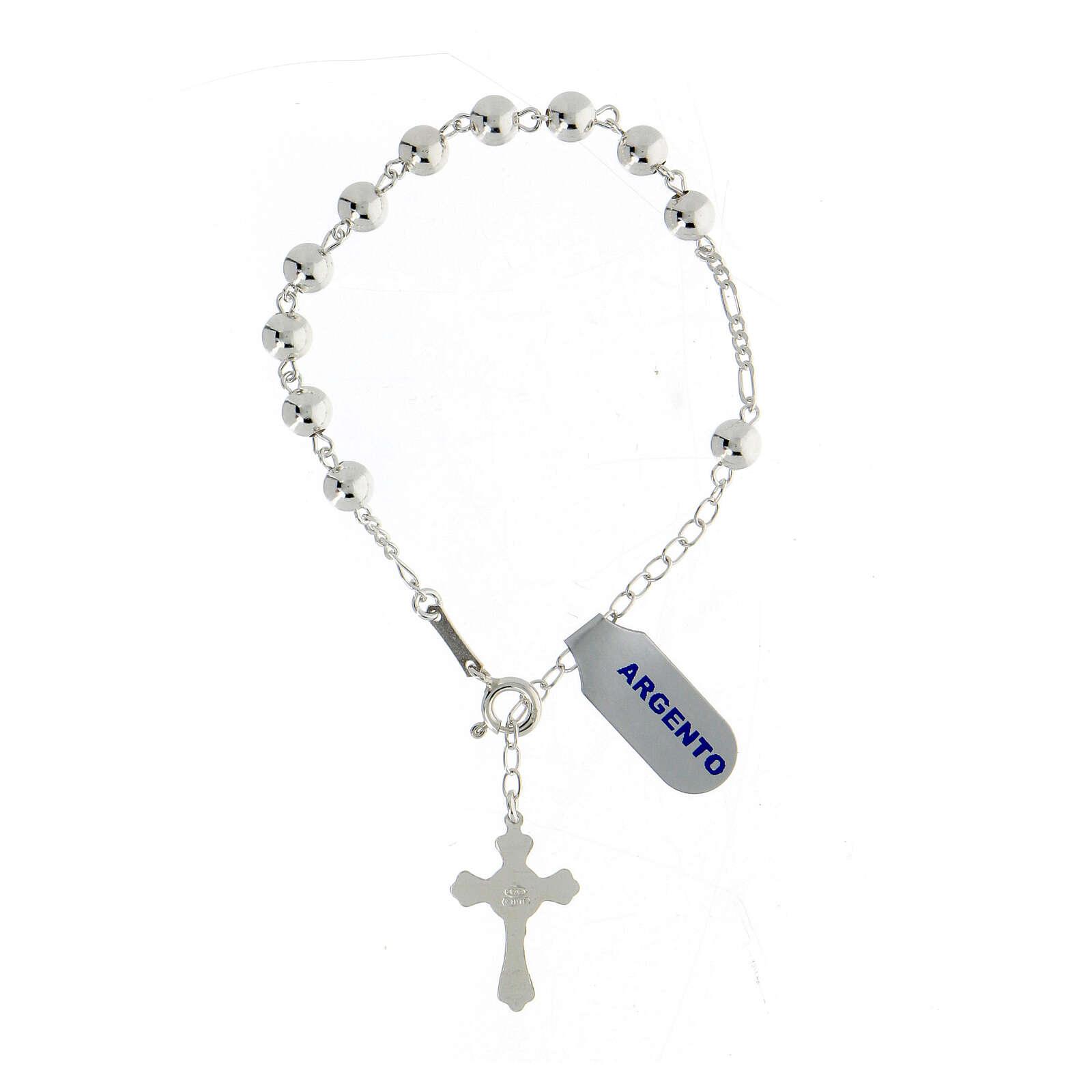 Bracelet dix grains, argent 925 4
