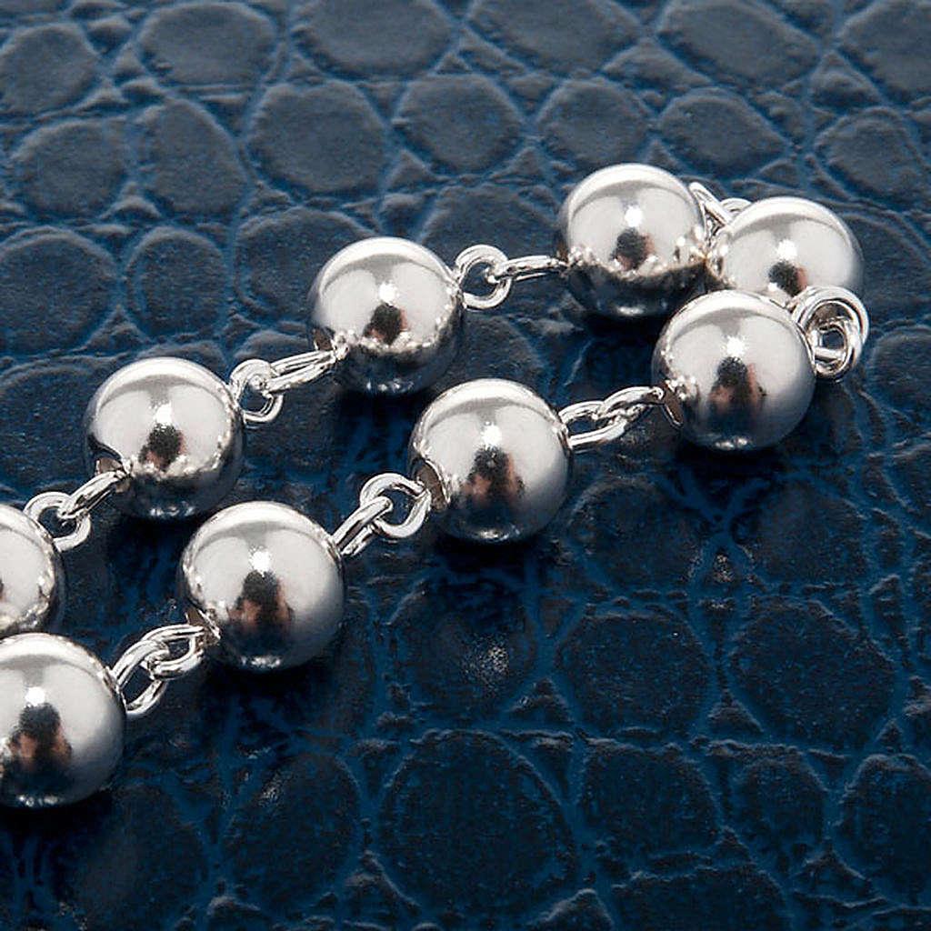 Silver bracelet single decade 4