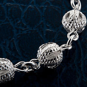 Silver decade bracelet with silver filigree cross s4