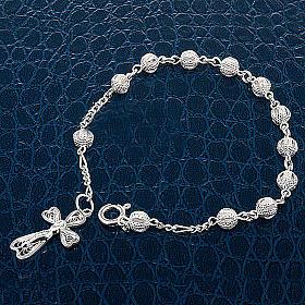Bracelet dix grains, filigrane et  argent s5