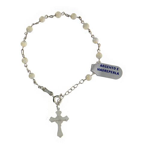 Bracelet argent et nacre 2