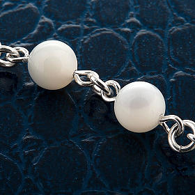Silver bracelet and mother-of-pearl beads s3