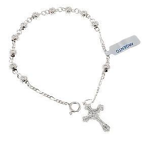Silver bracelets: Hammered ten-bead bracelet silver 925