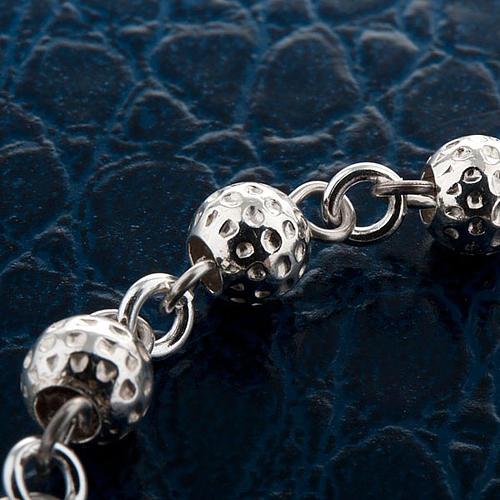 Hammered ten-bead bracelet silver 925 2