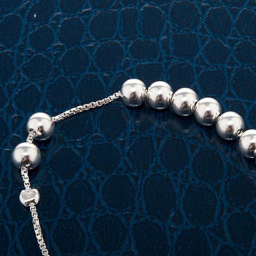 Pulsera decena plata perlas corredizo 2