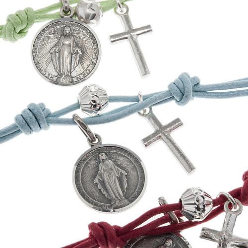 Bracelet argent et corde 2