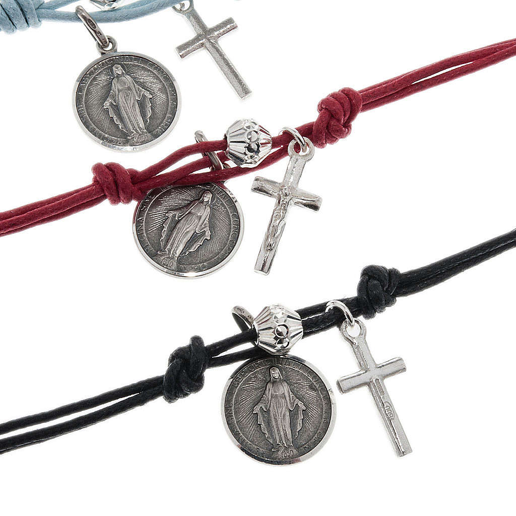 Bracciale argento 925 e cordino 4