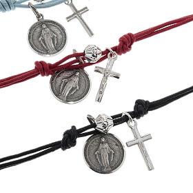 Bracciale argento 925 e cordino s3
