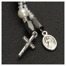 Bracciale rosario Medjugorje perline bianche s4