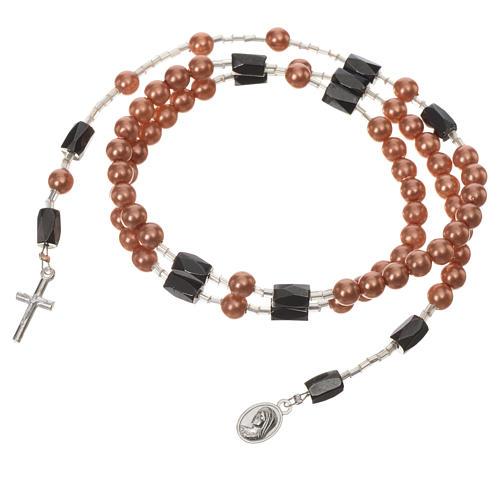 Pulsera rosario Medjugorje perlas marfil 6