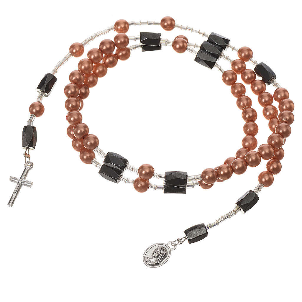 Medjugorije chapelet bracelet grains beige 4