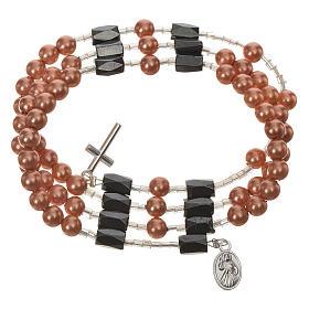 Bracelets divers: Medjugorije chapelet bracelet grains beige