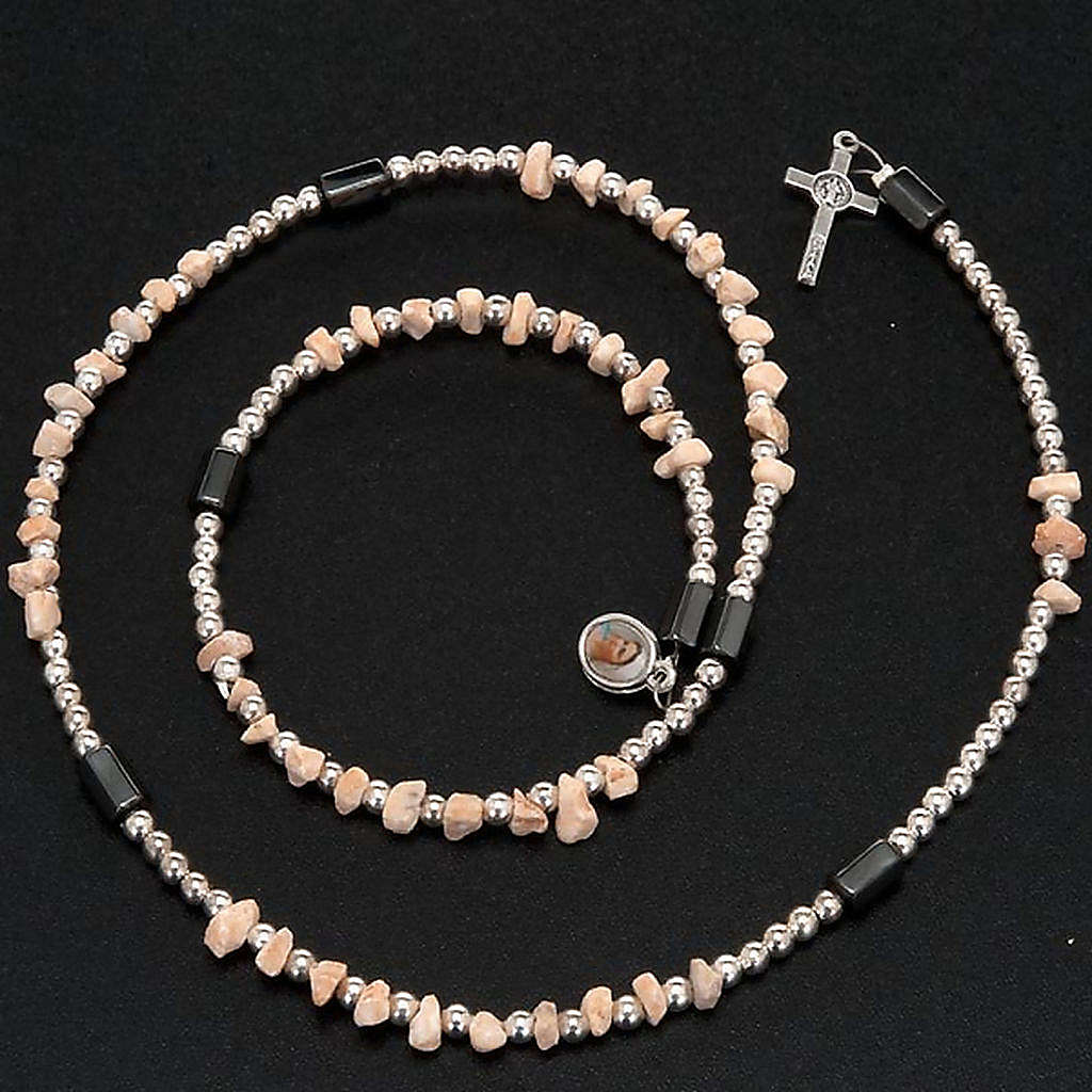 Pulsera rosario Medjugorje perlas blancas 4