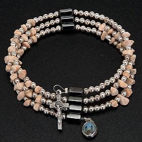 Pulsera rosario Medjugorje perlas blancas s4
