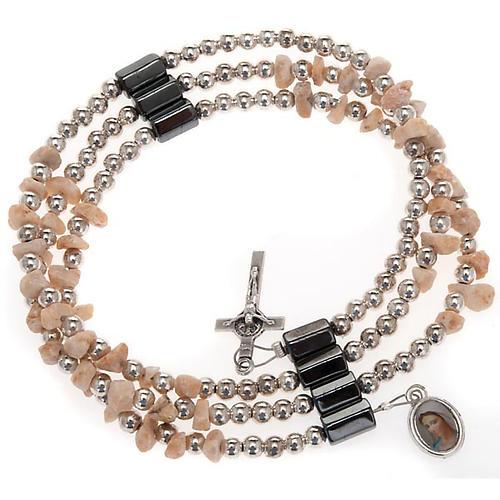 Pulsera rosario Medjugorje perlas blancas 1