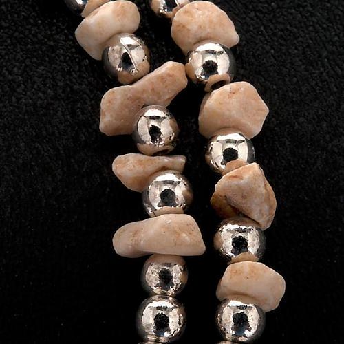 Pulsera rosario Medjugorje perlas blancas 2