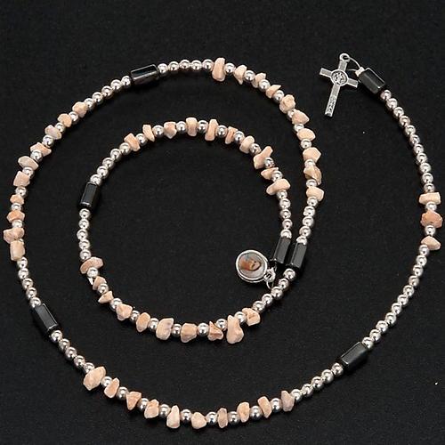 Bracciale rosario Medjugorje perline pietra 3