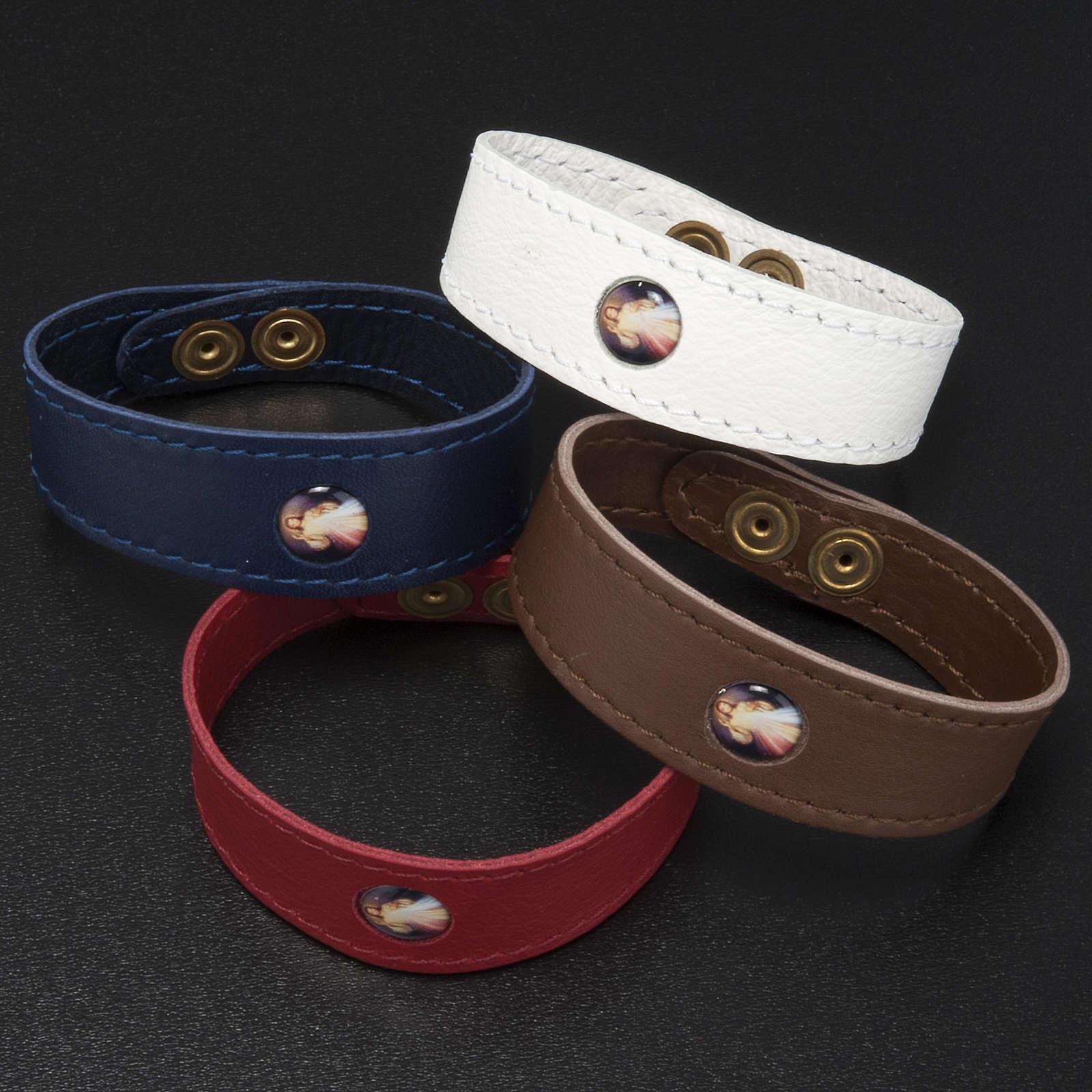 Bracelet cuir Divine Miséricorde 4