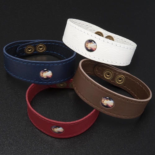 Bracelet cuir Divine Miséricorde 2