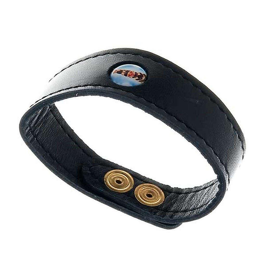 Bracelet cuir Notre Dame de Loreto 4
