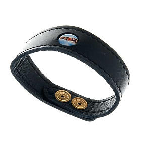 Bracelet cuir Notre Dame de Loreto s1