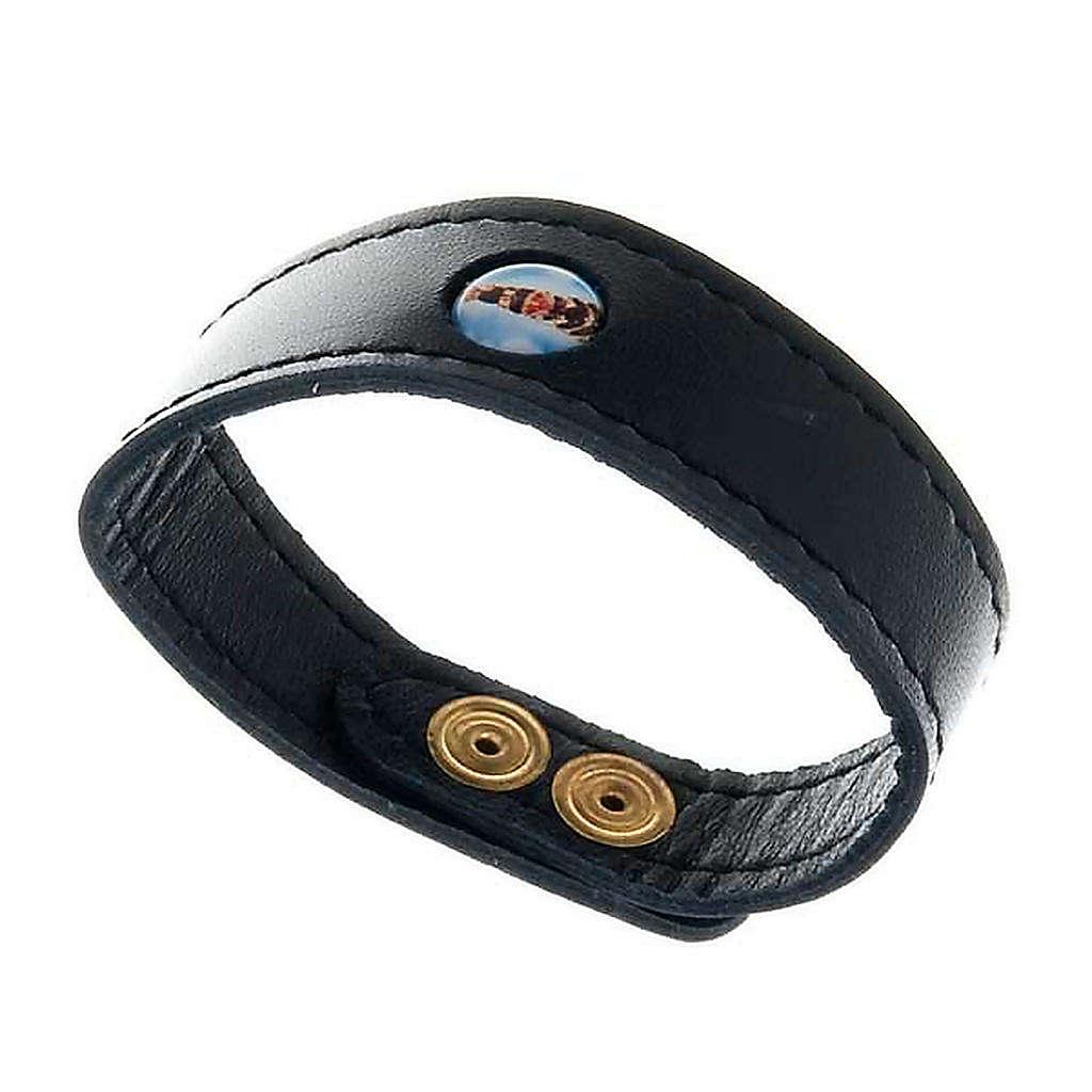 Leather bracelet Our Lady of Loreto 4