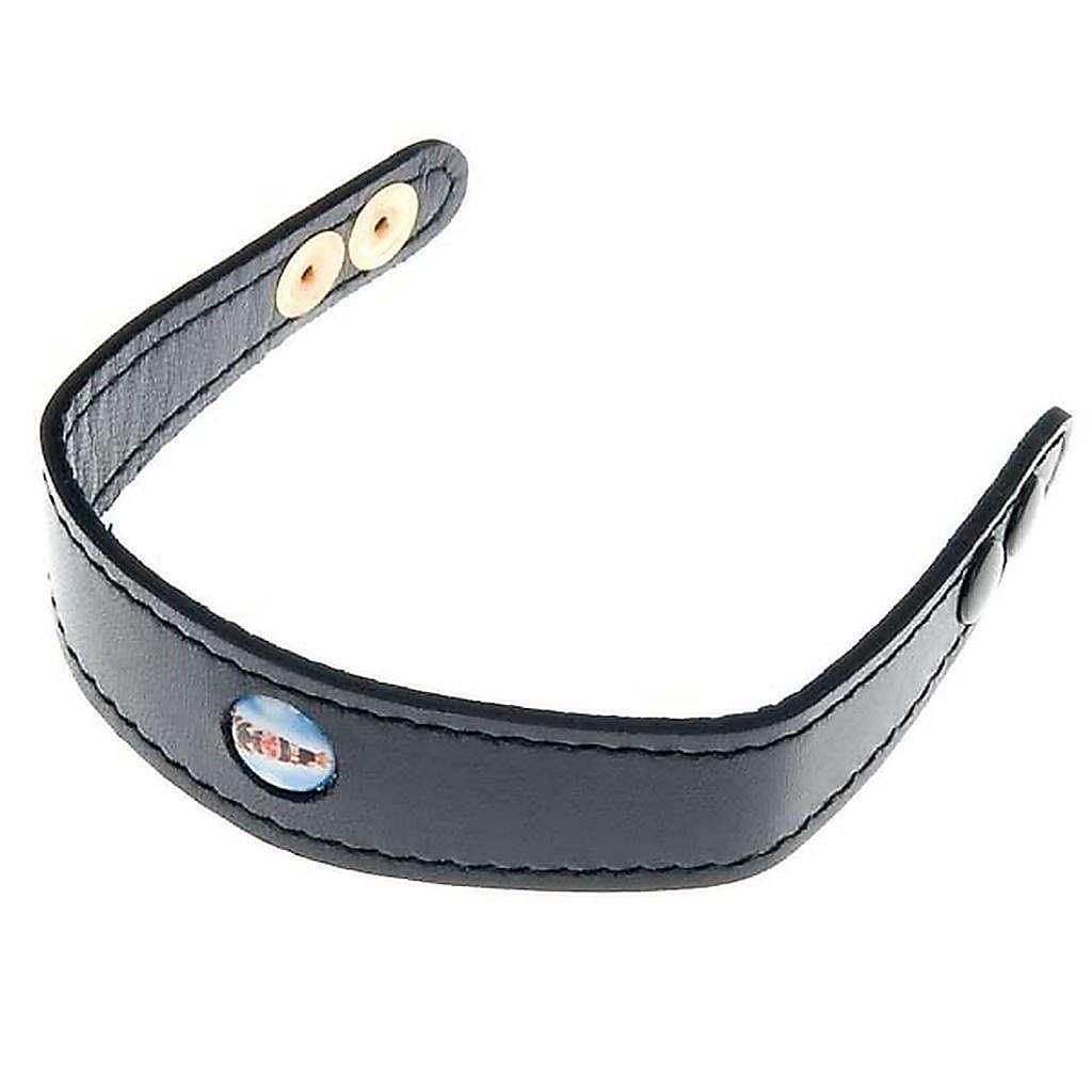 Leather bracelet Our Lady of Loreto 4