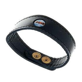 Various bracelets: Leather bracelet Our Lady of Loreto