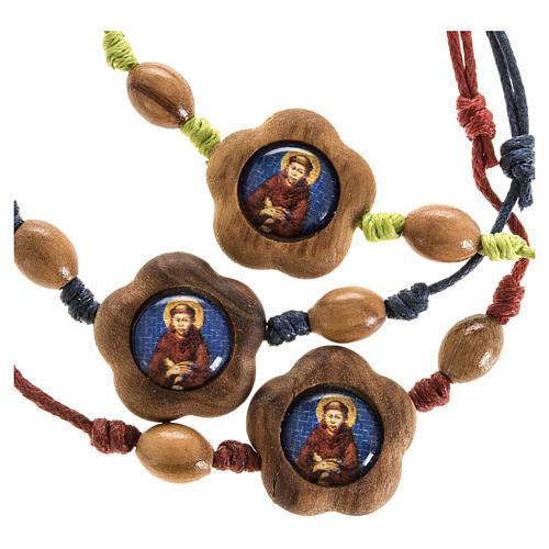 Pulsera Francisco de Asís madera olivo 2