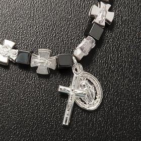 Bracelet hématite avec croix et Vierge Miraculeuse s4