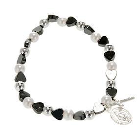 Various bracelets: Elastic bracelet with hearts 5mm