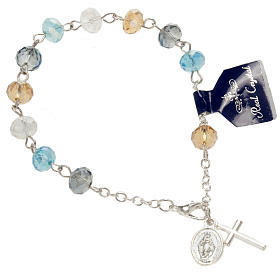 Pulsera rosario decena de cristal 8x6mm s1