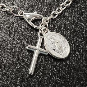 Pulsera rosario decena de cristal 8x6mm s4