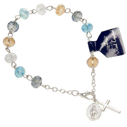 Pulsera rosario decena de cristal 8x6mm 1