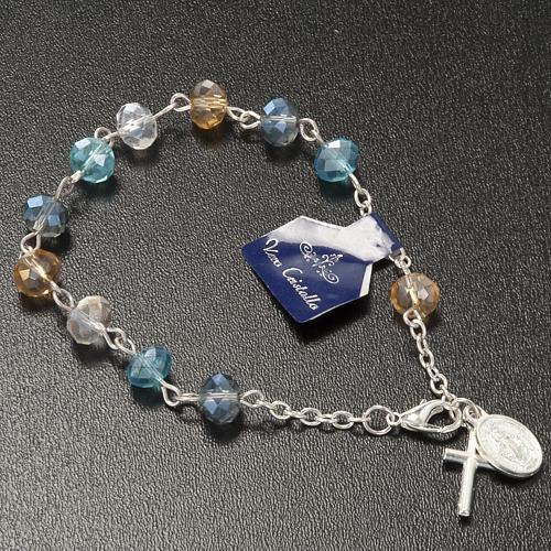 Pulsera rosario decena de cristal 8x6mm 2