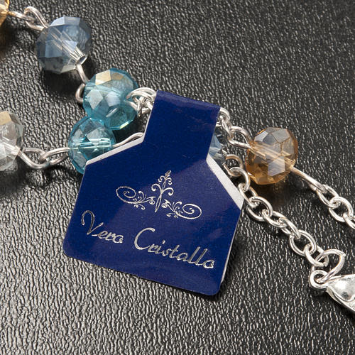 Pulsera rosario decena de cristal 8x6mm 3