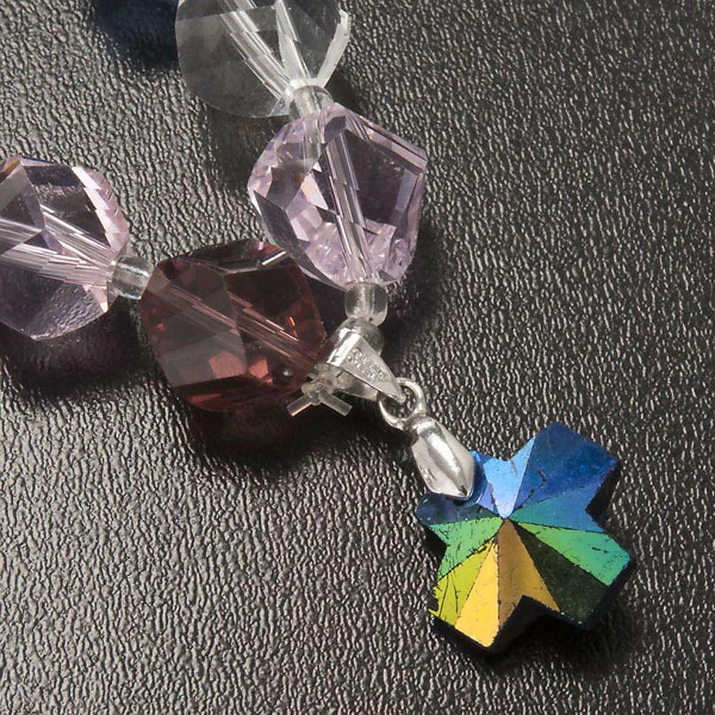 Bracciale cristallo grani e croce 4
