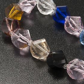 Bracciale cristallo grani e croce s4
