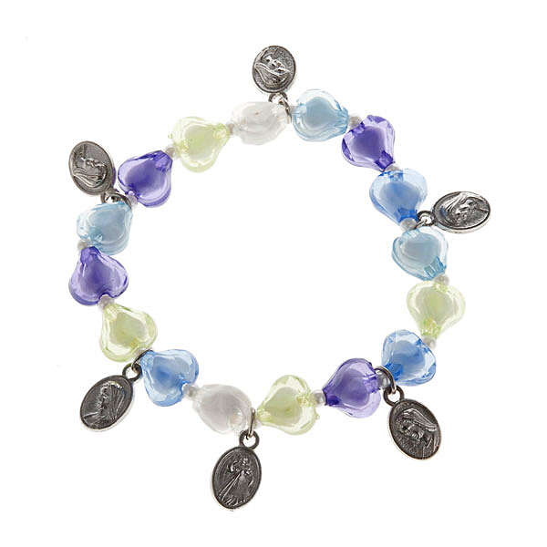 Bracelet with heart and 6 medals 4