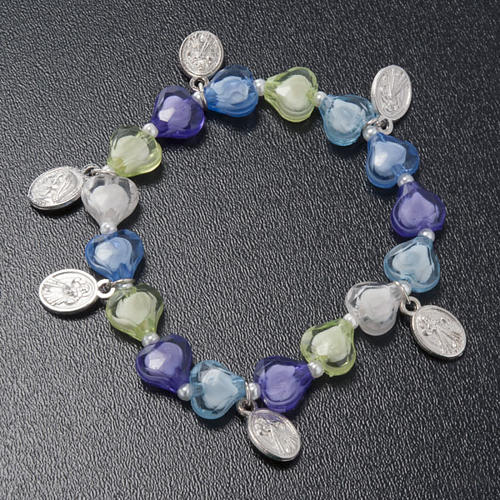 Bracelet with heart and 6 medals 2