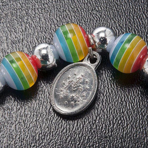 Bracelet, peace colours with Miraculous Medal 4