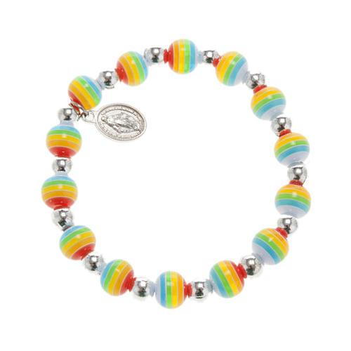 Bracelet couleurs de la paix médaille Miraculeuse 1
