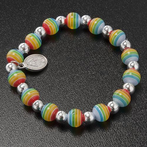 Bracelet couleurs de la paix médaille Miraculeuse 2