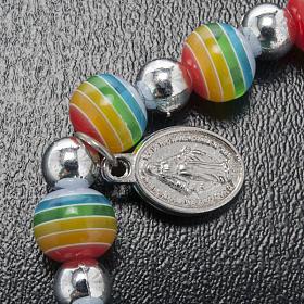 Bracciale colori pace medaglia Miracolosa s3