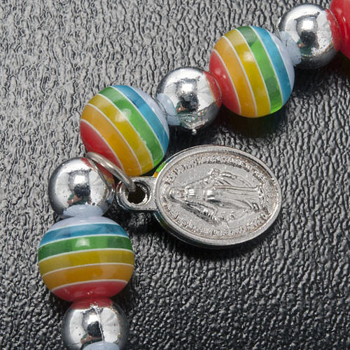Bracelet, peace colours with Miraculous Medal 3