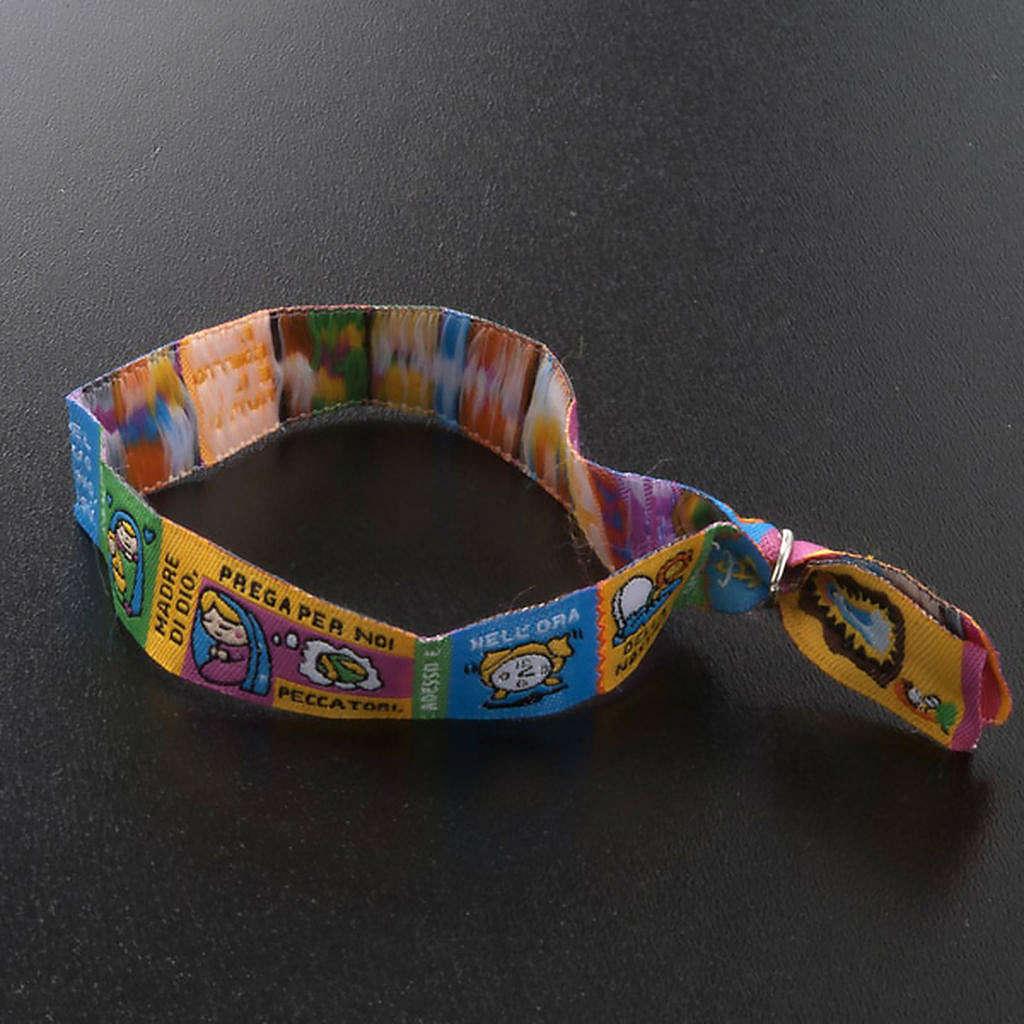 Prayer bracelet in fabric, Hail Mary ITA 4