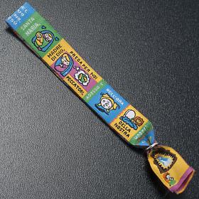 Prayer bracelet in fabric, Hail Mary ITA s4