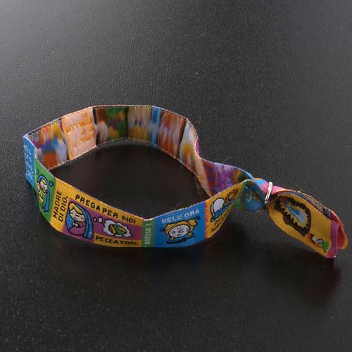 Prayer bracelet in fabric, Hail Mary ITA 5