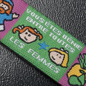 Child Prayer bracelet in fabric, Hail Mary FRA s5